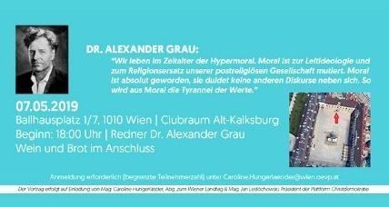 Einladung zum Vortrag von Dr. Alexander Grau: Hypermoral