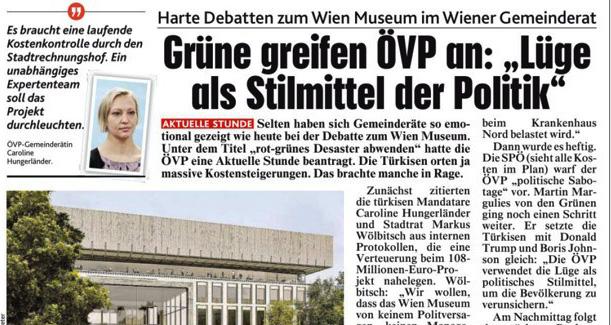Debatte um Wien Museum