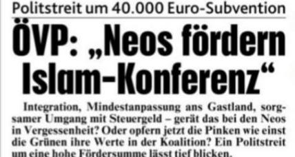 Wiener Steuermittel für Islam-Konferenz